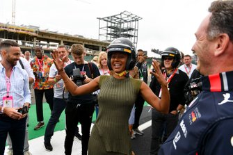 Mel B gets ready for her Hot Lap