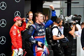 Daniil Kvyat, Toro Rosso celebrates in Parc Ferme