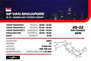 Tijdschema F1 Singapore 2019