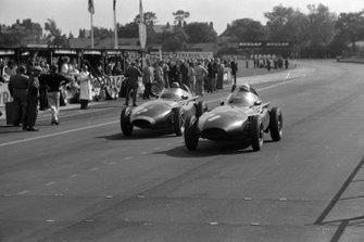 Tony Brooks, Vanwall; Stirling Moss, Vanwall and Stuart Lewis-Evans, Vanwall