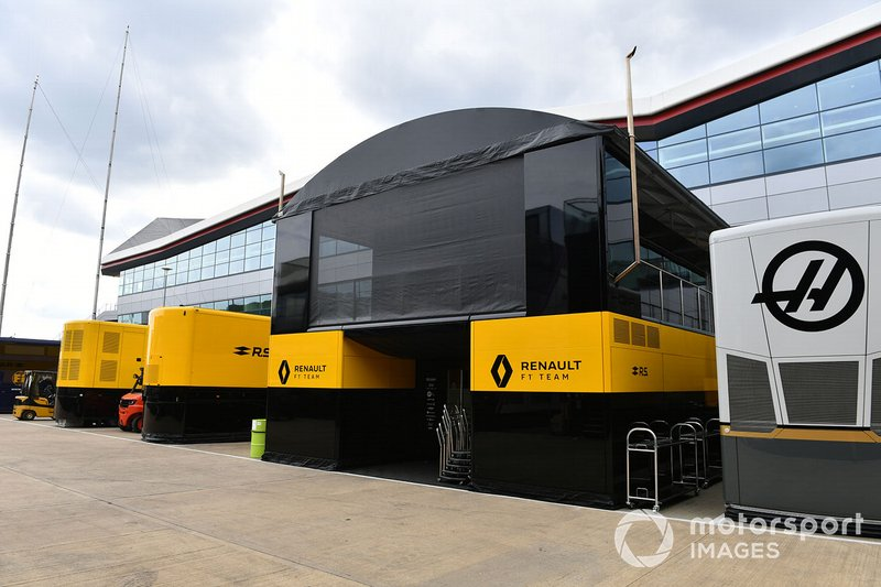 Renault F1 Team garage in the paddock