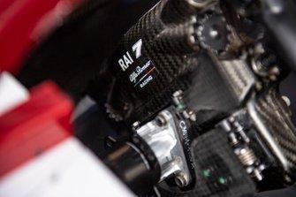 La parte trasera del volante de Kimi Raikkonen, Alfa Romeo Racing C38