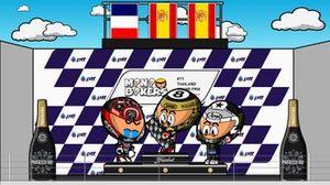 El podio del GP de Tailandia 2019, por MiniBikers