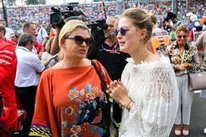 Corinna Schumacher and Gina-Maria Schumacher celebrating the F2 win of Mick Schumacher