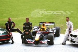 Colin McRae, David Coulthard, and Andy Priaulx