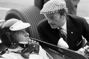 Jim Clark con el propietario del Equipo Lotus, Colin Chapman