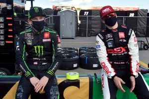 Riley Herbst, Joe Gibbs Racing, Toyota Supra Monster Energy, Harrison Burton, Joe Gibbs Racing, Toyota Supra Dex Imaging