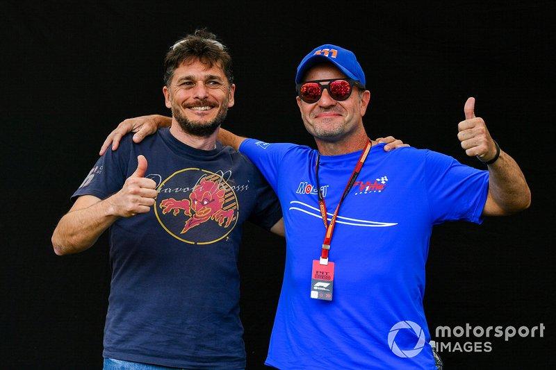 Giancarlo Fisichella e Rubens Barrichello