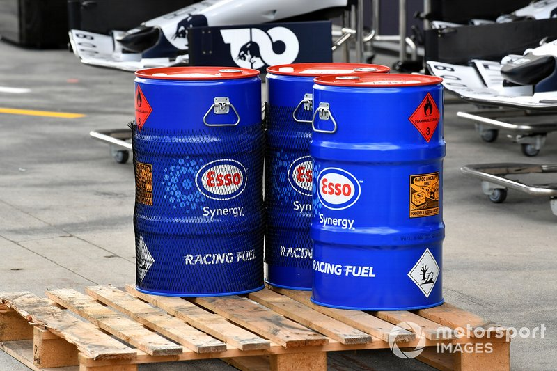 Esso oil drums
