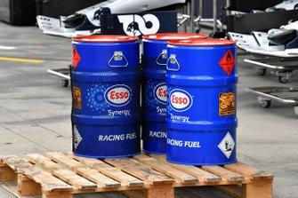 Esso oil drums
