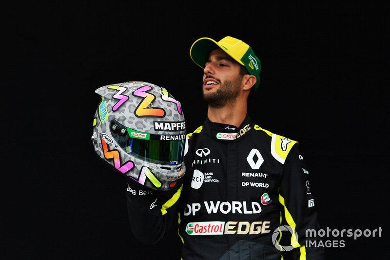 El casco de Daniel Ricciardo, Renault F1 Team para Australia