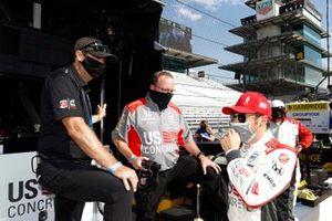 Марко Андретти, Брайан Херта и инженер команды Andretti Herta with Marco & Curb-Agajanian Honda