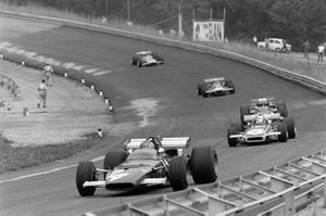 Ignazio Giunti, Ferrari 312B leads Chris Amon, March 701 Ford