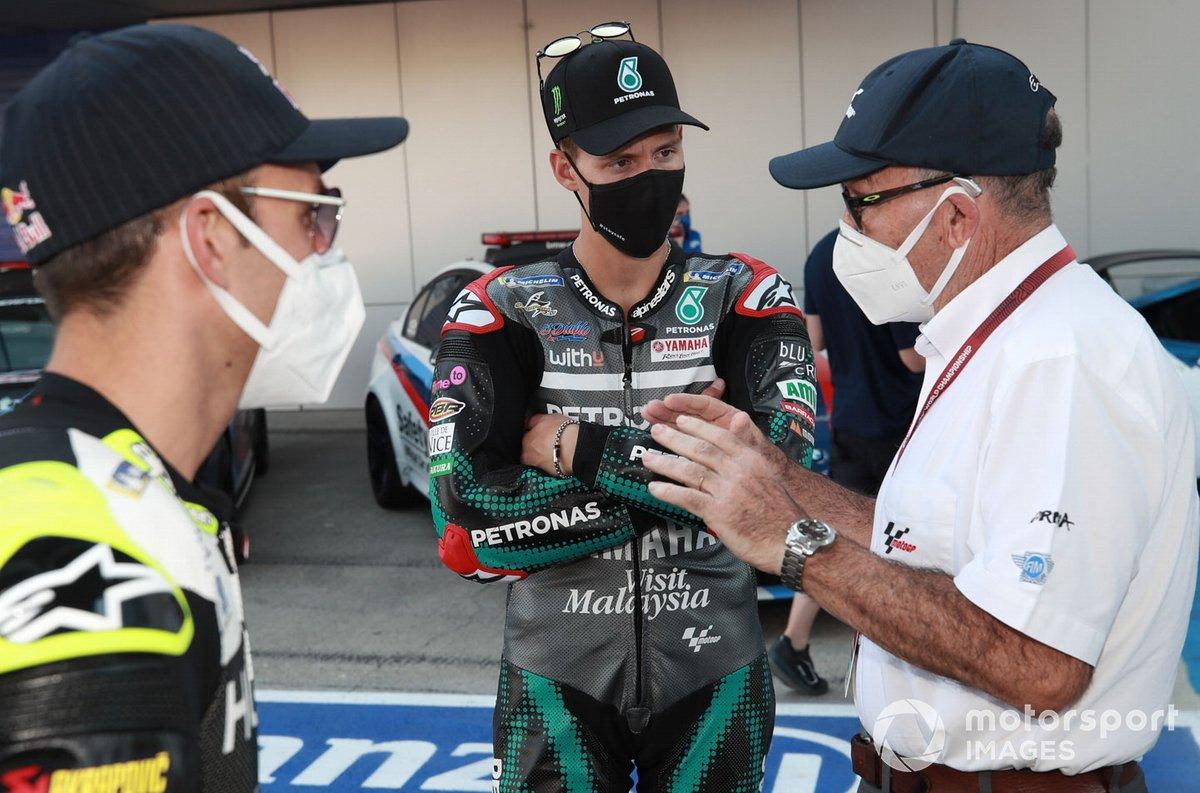 Johann Zarco, Avintia Racing, Fabio Quartararo, Petronas Yamaha SRT, Carmelo Carmelo Ezpeleta, CEO Dorna Sports