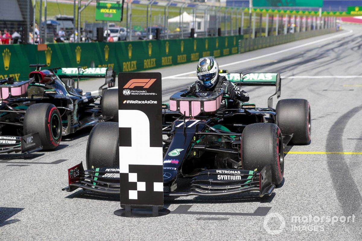 Ganador de la pole Valtteri Bottas, Mercedes-AMG Petronas F1