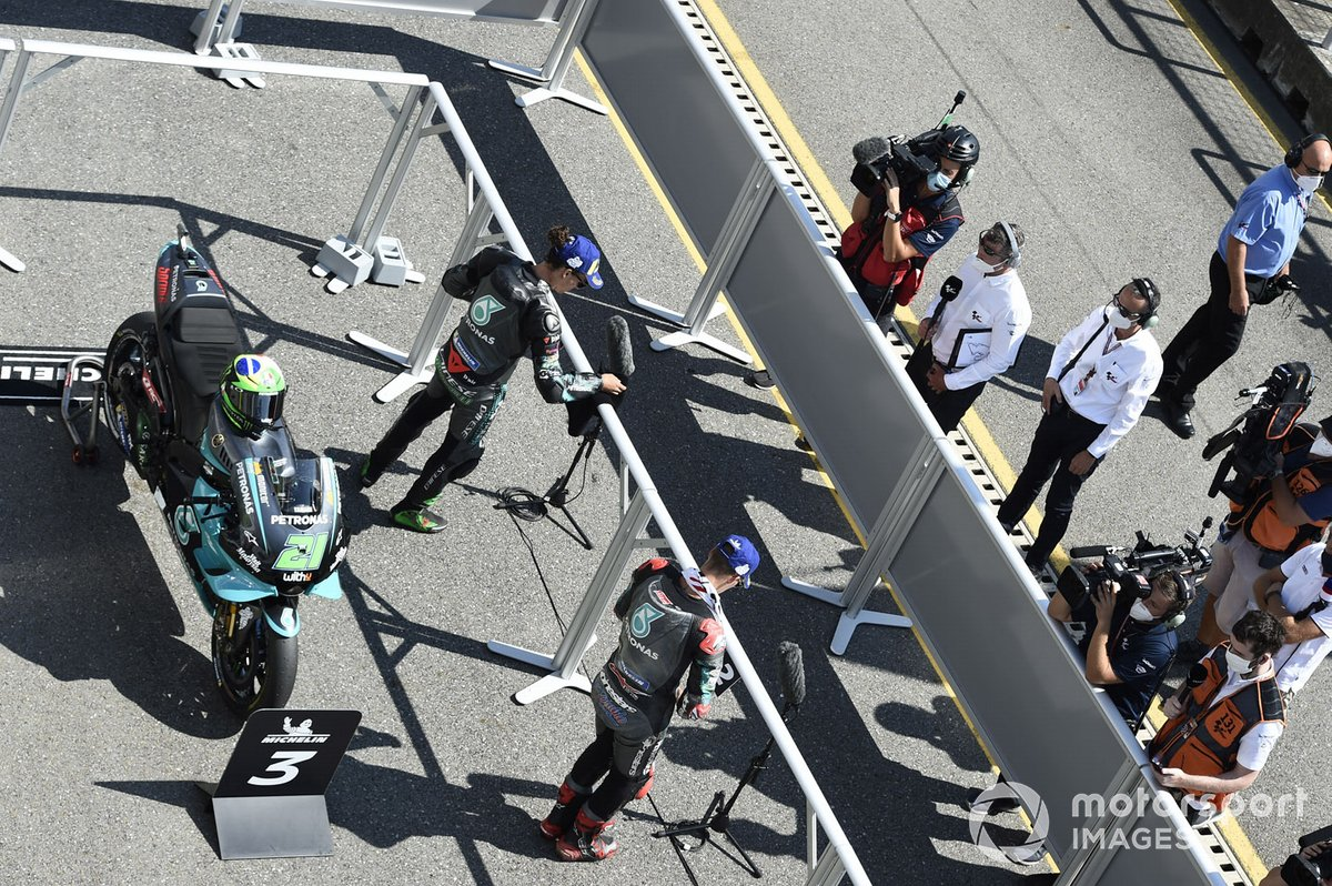 Franco Morbidelli, Petronas Yamaha SRT, Fabio Quartararo, Petronas Yamaha SRT, Parc ferme