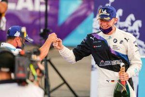 Maximilian Gunther, BMW I Andretti Motorsports fête sa victoire sur le podium