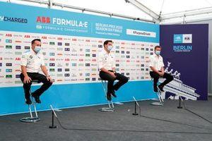 Roger Griffiths, Team Principal, BMW i Andretti Motorsport, Ian James, Team Principal, Mercedes-Benz EQ , Allan McNish, Team Principal, Audi Sport Abt Schaeffler in the press conference