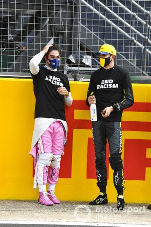 Lance Stroll, Racing Point, Esteban Ocon, Renault F1