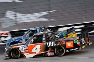 Raphael Lessard, Kyle Busch Motorsports, Toyota Tundra JBL and Todd Gilliland, Front Row Motorsports, Ford F-150 Speedco