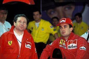 Jean Todt and Jean Alesi, Ferrari