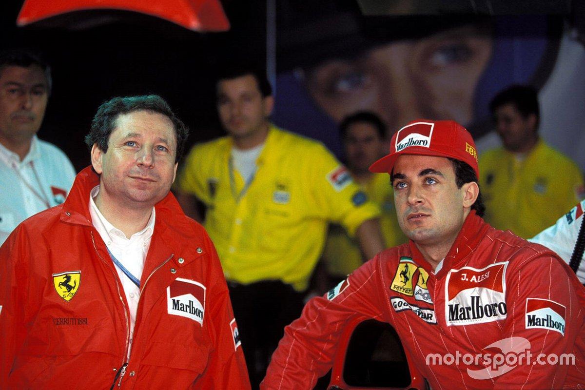 Jean Todt y Jean Alesi, Ferrari