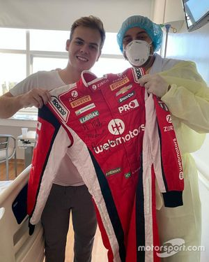 Bruno Baptista no hospital