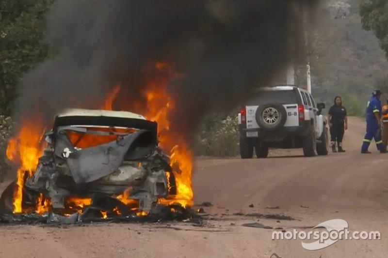 Ford Fiesta Эсапекки Лаппи в огне