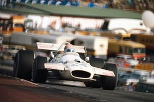 Rolf Stommelen, Brabham BT33 Ford, covered with fire distinguisher spray