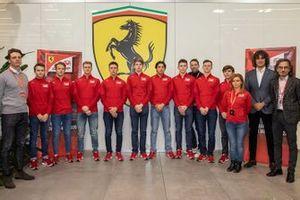 Line-up de la Ferrari Driver Academy
