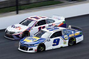Chase Elliott, Hendrick Motorsports, Chevrolet Camaro NAPA Auto Parts, Denny Hamlin, Joe Gibbs Racing, Toyota Camry FedEx Express
