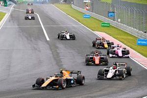 Guilherme Samaia, Campos Racing, Christian Lundgaard, ART Grand Prix and Nobuharu Matsushita, MP Motorsport