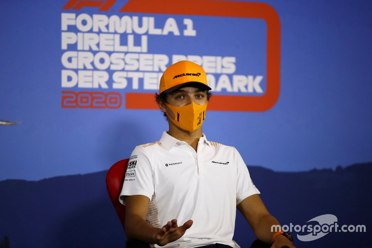 Lando Norris, McLaren in the press conference