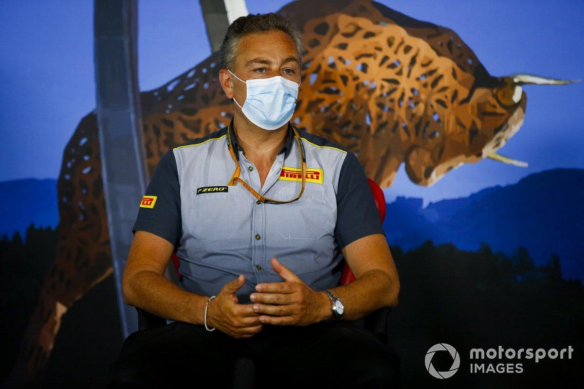Mario Isola, director de carreras de Pirelli Motorsport en la conferencia de prensa