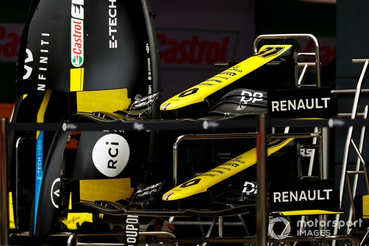 Los conos de la nariz del monoplaza de Esteban Ocon Renault F1 Team R.S.20