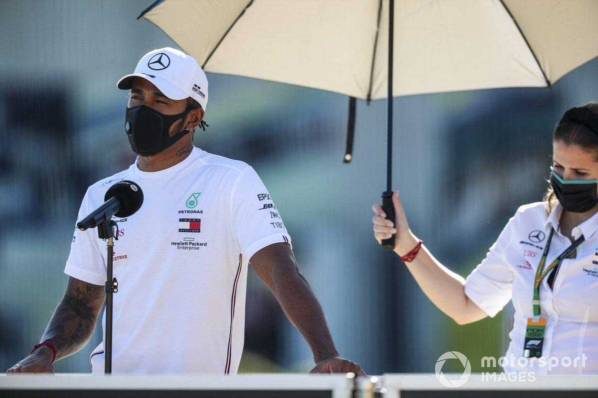 Lewis Hamilton, Mercedes-AMG F1 parla con i media