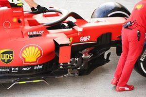 Sidepod detail of the Charles Leclerc Ferrari SF1000