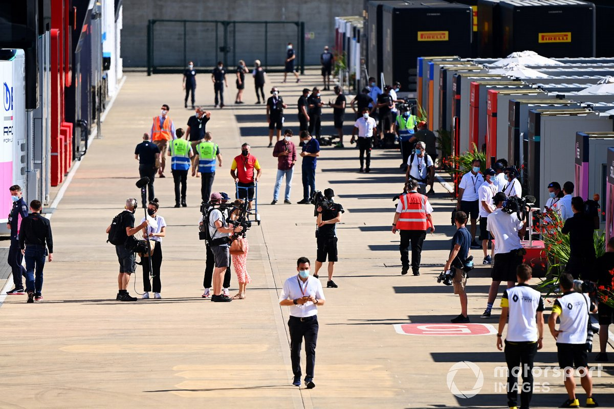 El paddock de Silverstone