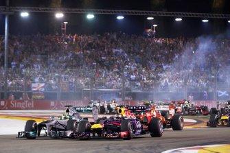 Sebastian Vettel, Red Bull Racing, Nico Rosberg, Mercedes AMG F1 W04