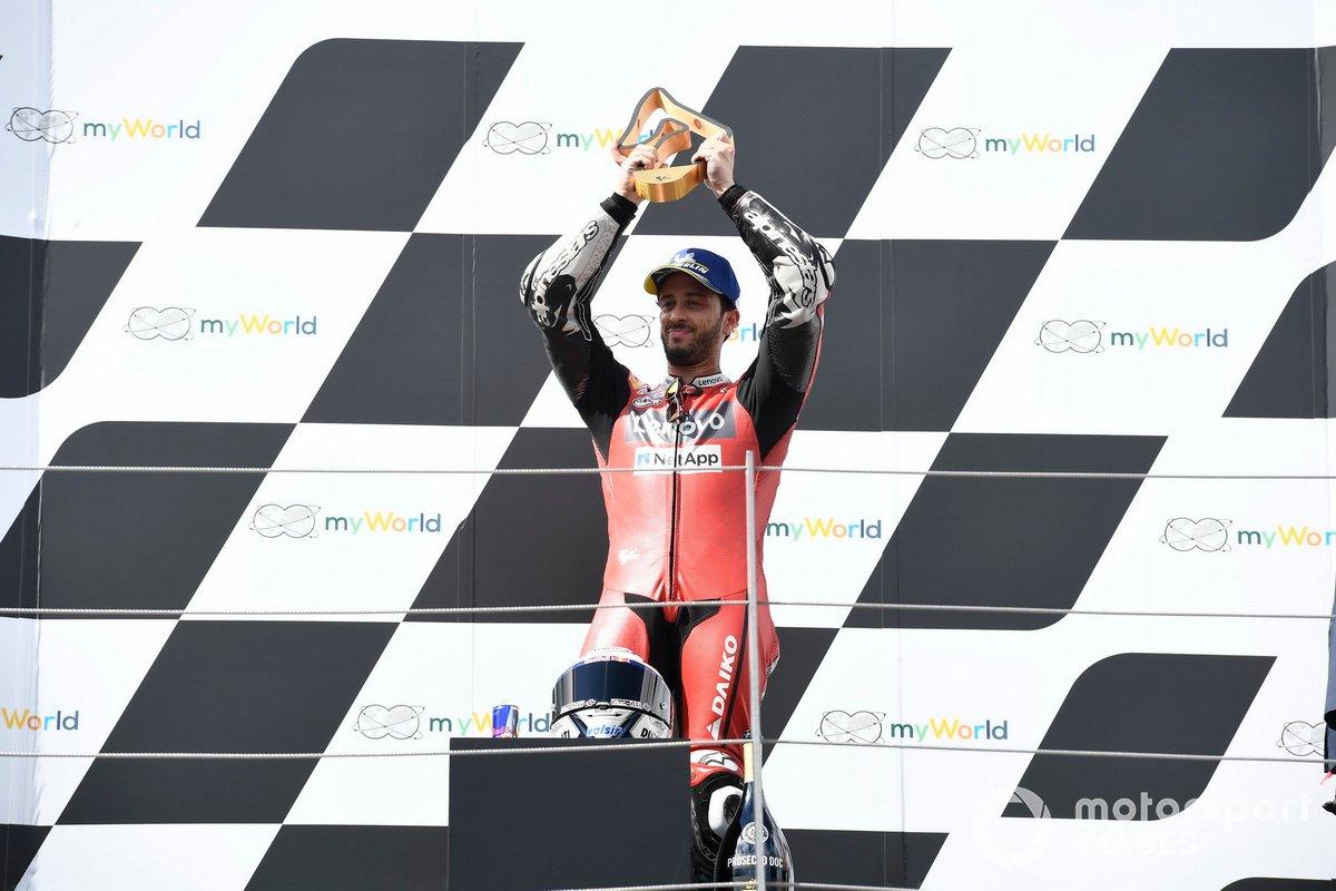 Podio: ganador Andrea Dovizioso, Ducati Team
