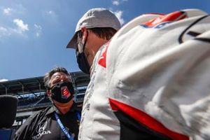 Marco Andretti, Andretti Herta with Marco & Curb-Agajanian Honda, NTT P1 Award pole winner, Michael Andretti