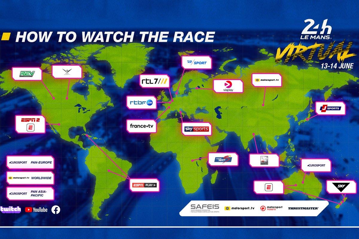 Programa de las 24h de Le Mans virtuales