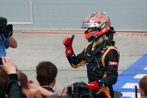 Third place Romain Grosjean, Lotus F1 Team