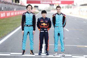 Artem Petrov, Jenzer Motorsport Yuki Tsunoda, Jenzer Motorsport y Andreas Estner, Jenzer Motorsport