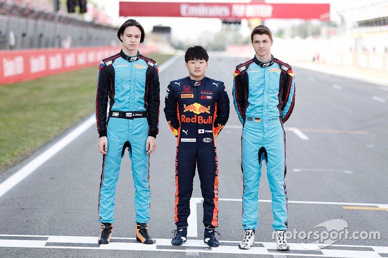 Artem Petrov, Jenzer Motorsport Yuki Tsunoda, Jenzer Motorsport et Andreas Estner, Jenzer Motorsport