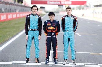 Artem Petrov, Jenzer Motorsport Yuki Tsunoda, Jenzer Motorsport and Andreas Estner, Jenzer Motorsport