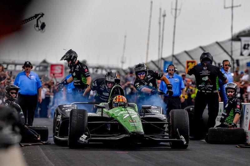 Oriol Servia, Arrow Schmidt Peterson Motorsports Honda, Pit Stop Competition