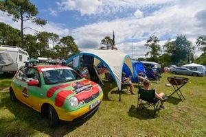 Volkswagen and Camping Site Atmosphere