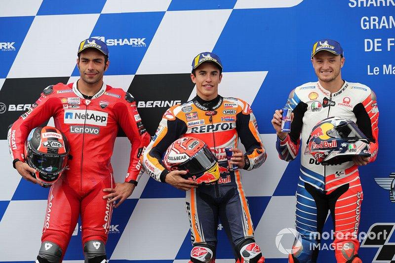 Danilo Petrucci, Ducati Team, Marc Marquez, Repsol Honda Team, Jack Miller, Pramac Racing