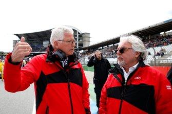 Keke Rosberg and Arno Zensen, Audi Sport Team Rosberg